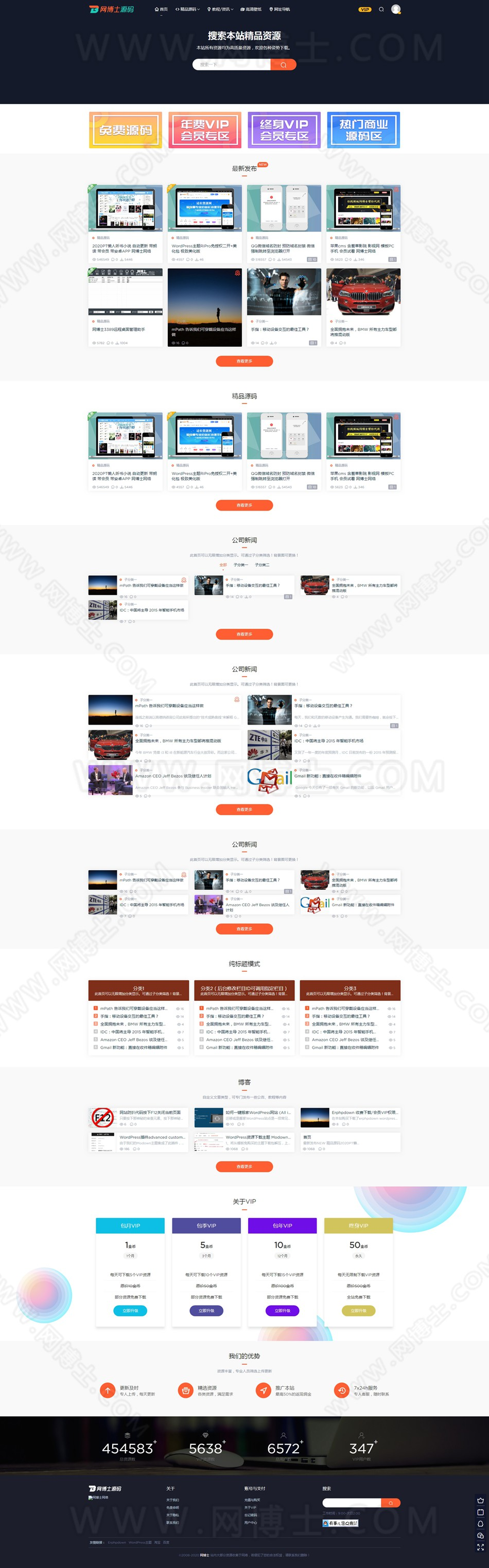 WordPress主题-模板兔新版 无限制版 适用于虚拟资源分享下载平台